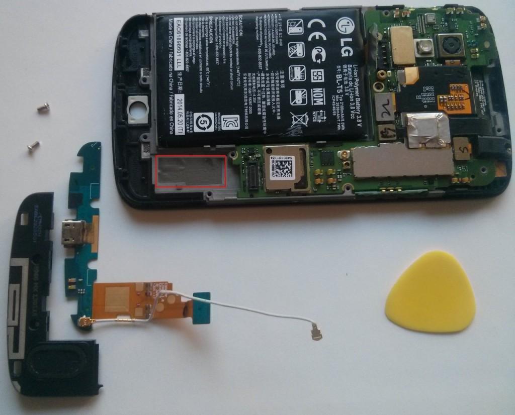 Nexus 4: Smartphone, Mikrofon, Lautsprecher und Plektrum