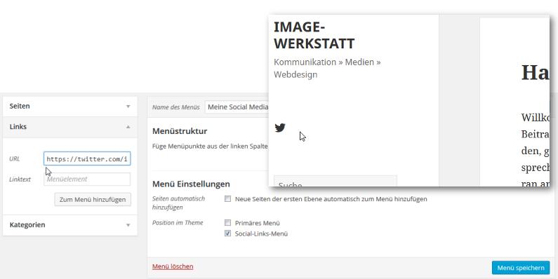 """""""Social-Links-Menü"""" für WordPress einrichten"""